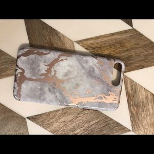 Pink and gray marble phone case velvet caviar